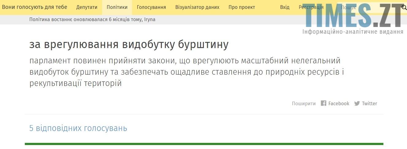 Screenshot 9 - Чи буде врегульовано питання видобутку бурштину на Житомирщині?