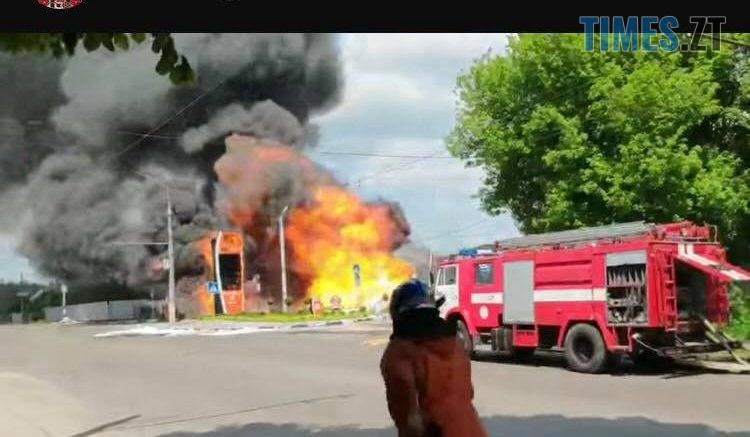 60591138 587618465062215 7339862752518733824 n 750x437 - В Житомирі сталася пожежа на заправці Яркон (ВІДЕО)