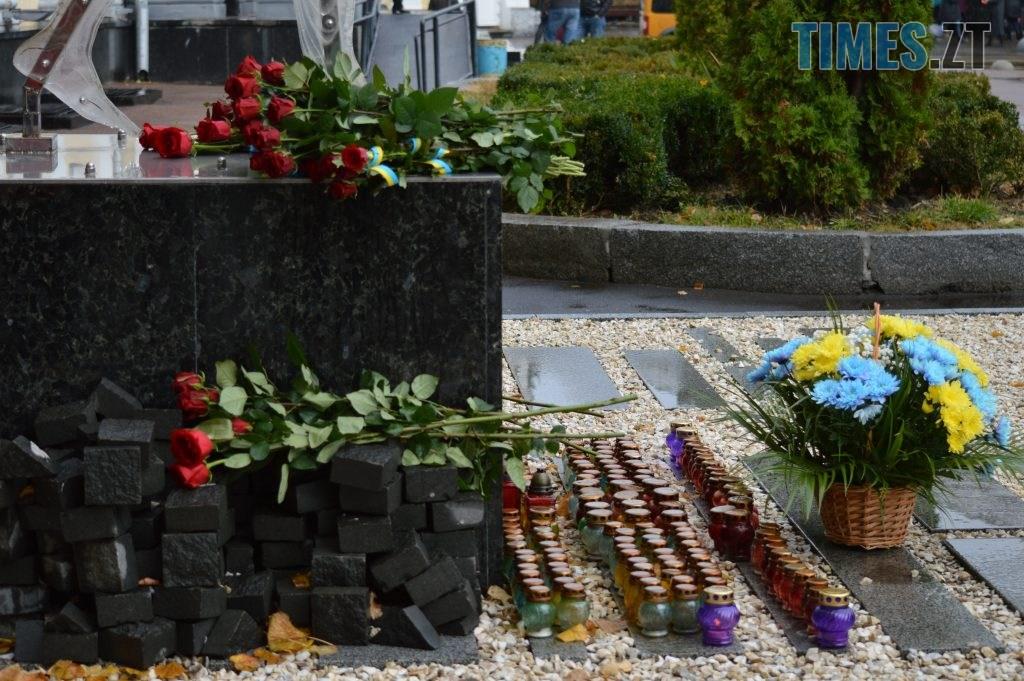 DSC 0154 1 1024x681 - Герої не вмирають! Житомиряни долучилися до відзначення Дня захисника України (ФОТО)