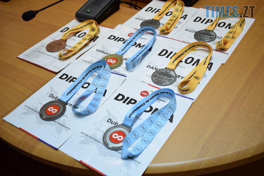 DSC 0184 1024x684 - У Житомирі вітали юних переможців Чемпіонату Європи та світу з карате (ФОТО)