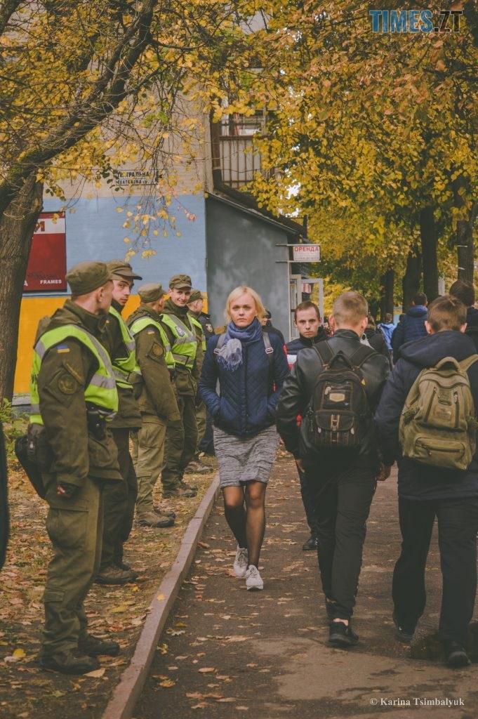 DSC 0225 681x1024 - Через президентів України та Білорусі житомиряни опинились в транспортно-пішохідному колапсі (ФОТО)