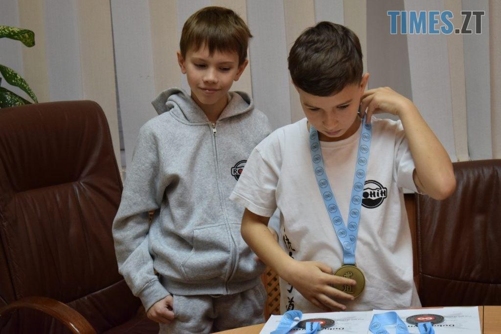 DSC 0308 1024x684 - У Житомирі вітали юних переможців Чемпіонату Європи та світу з карате (ФОТО)