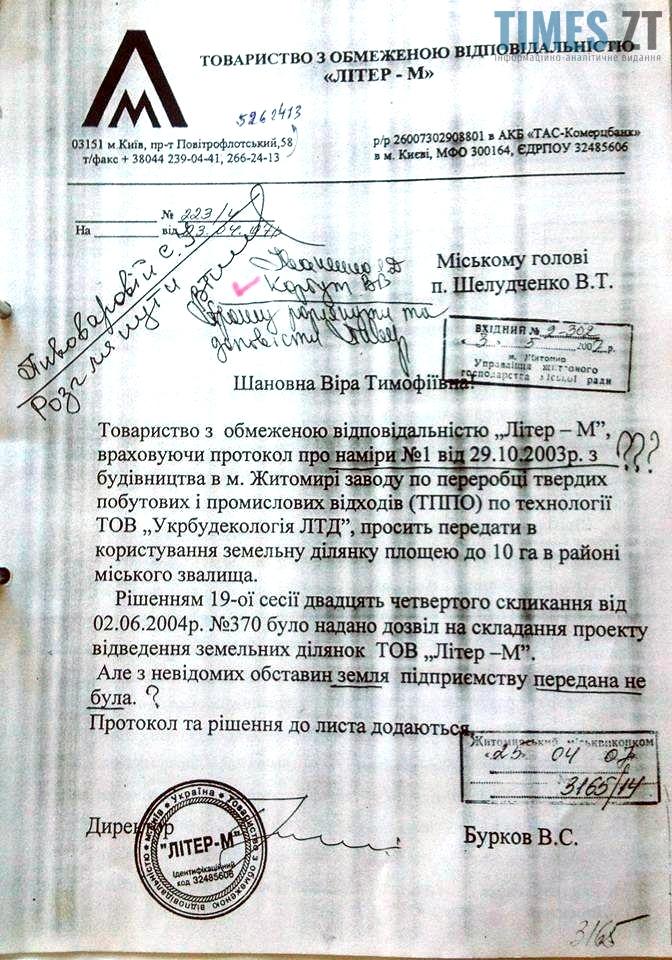 ТОВ ЛІТЕР-М Віра Шелудченко 2007р  | TIMES.ZT