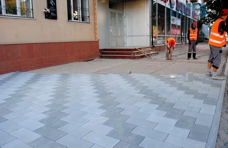 Тротуар на центральних вулицях міста  | TIMES.ZT