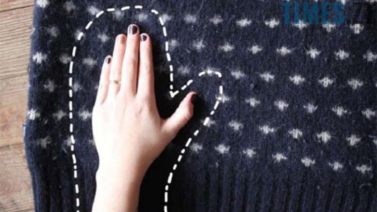 Зимові лайфхаки - рукавички із светра | TIMES.ZT