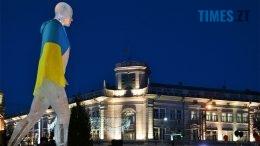 превью 260x146 - Пам'ятник Небесній Сотні у Житомирі вкрили національним прапором (фото, відео)