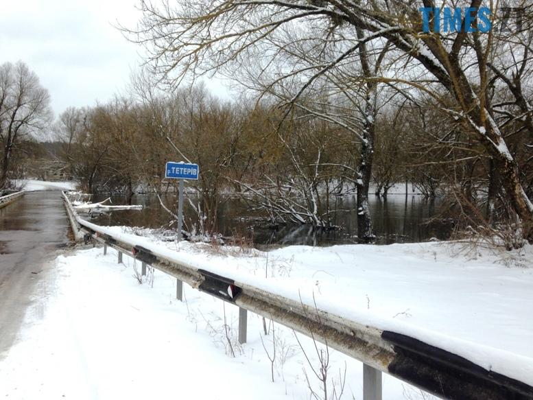2 15 - Житомирщину накриває повінню. Тетерів затопив міст у Харитонівці (відео, фото)