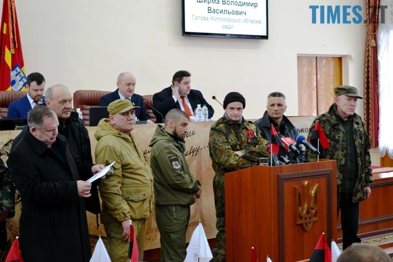 DSC 1739 - Житомирська облрада прирівняла партійний прапор ОУН(б) до державного