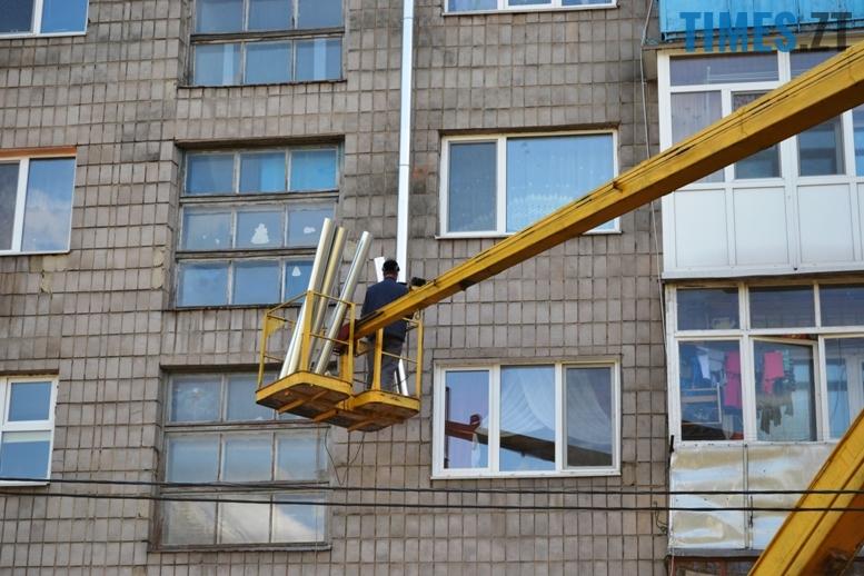 1 14 - Будинку на вулиці Лятошинського - труба (відео, фото)