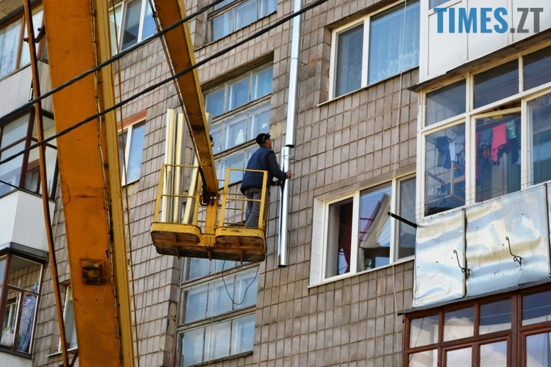 2 9 - Будинку на вулиці Лятошинського - труба (відео, фото)