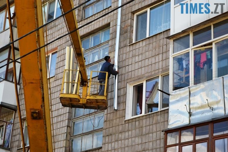 3 10 - Будинку на вулиці Лятошинського - труба (відео, фото)