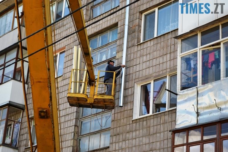 4 8 - Будинку на вулиці Лятошинського - труба (відео, фото)