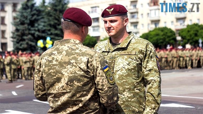 имени 27 - Житомиряни зустріли героїв, які повернулися із зони бойових дій