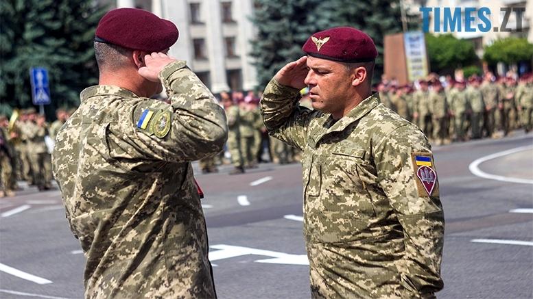 имени 28 - Житомиряни зустріли героїв, які повернулися із зони бойових дій