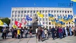 11 1 260x146 - Житомиряни мітингували за новий виборчий закон, а Коцюбко штовхав Пучича (відео, фото)