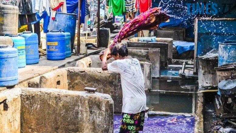 Громадська пральня в Індії. Процесс прання | TIMES.ZT