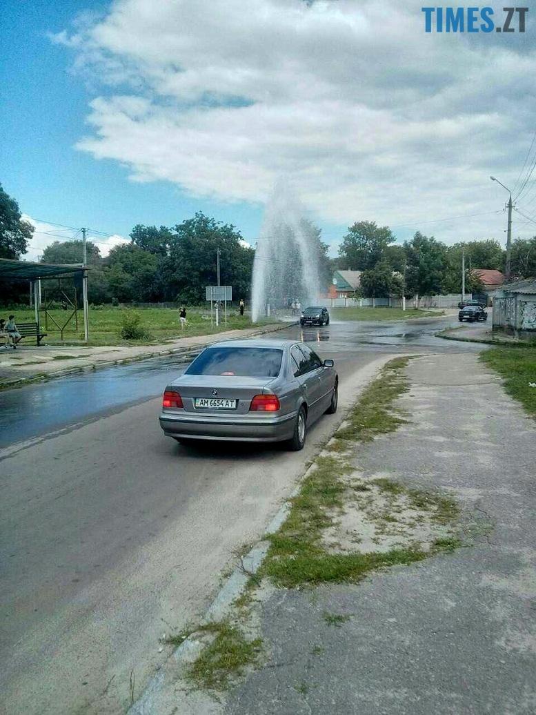 1 4 - У Житомирі дали воду. На Короленка самовільно відкрився новий фонтан (відео, фото)