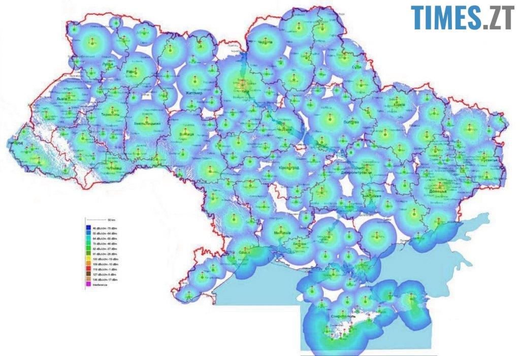 Карта покриття Т2. Україна
