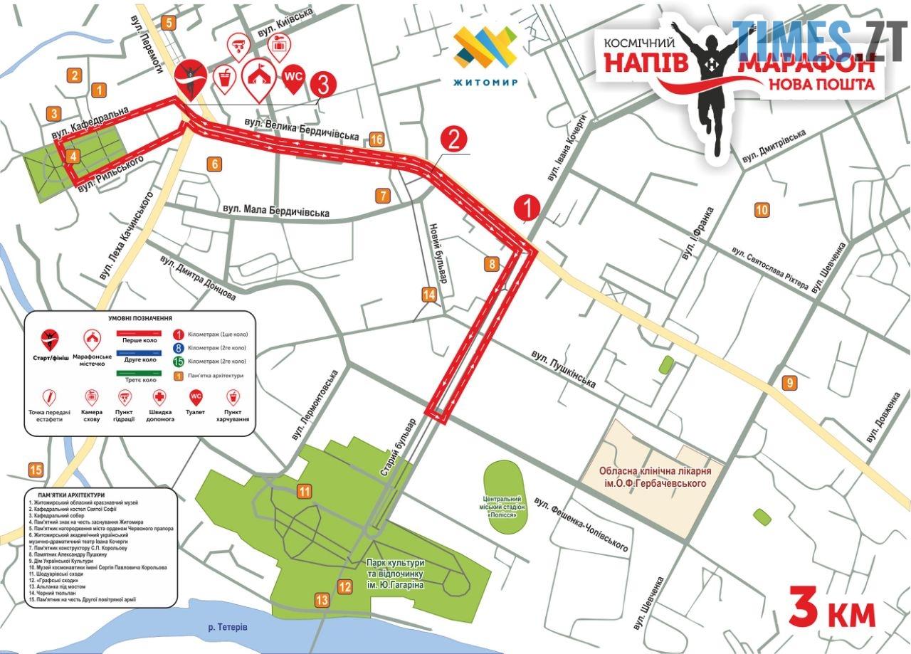 3 км корп - У найкосмічнішому напівмарафоні України візьмуть участь більше 700 учасників (МАРШРУТИ)