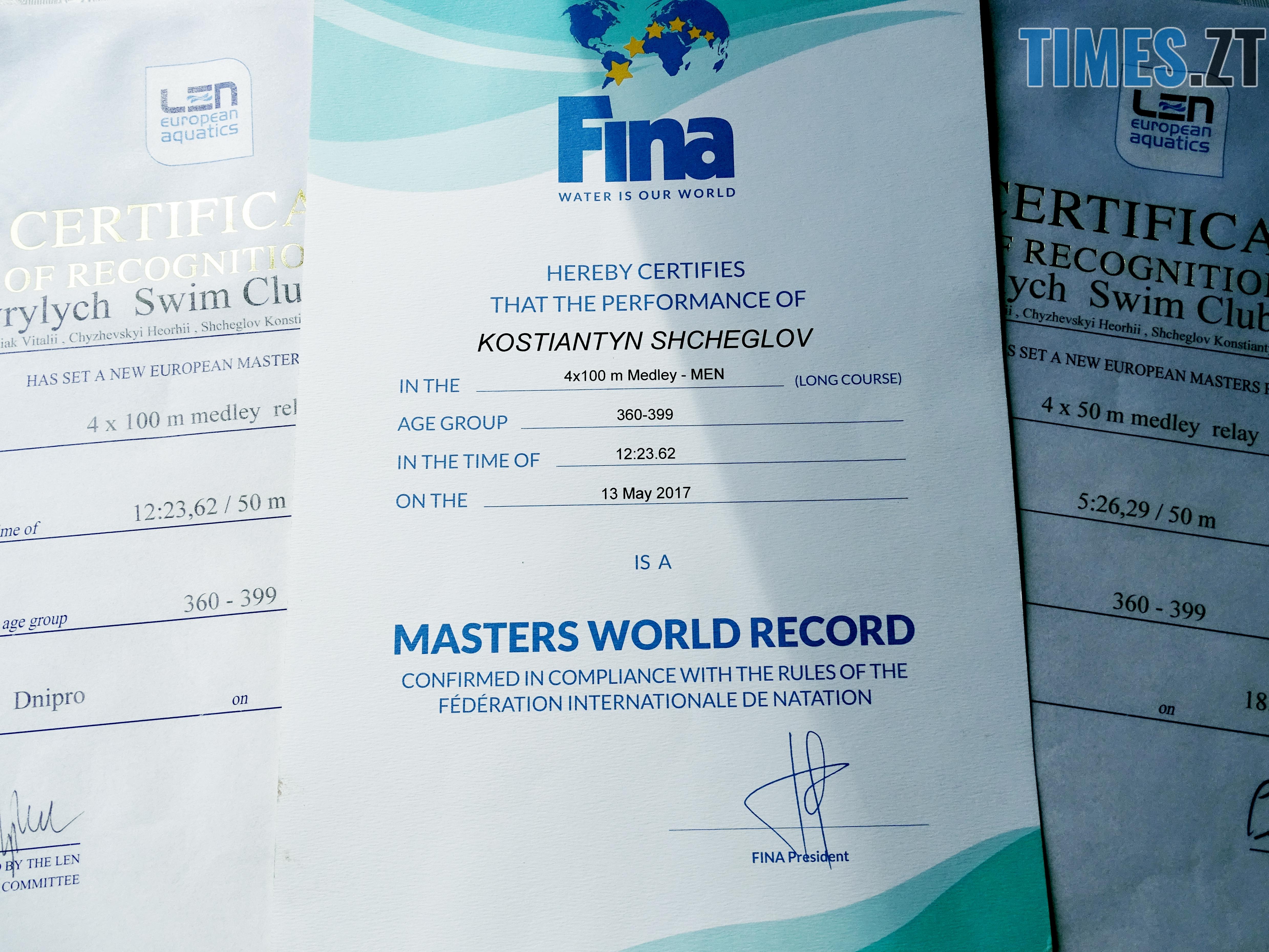 5 рекорди ВСІ можна поставити де говрить про рекорд у Дніпр1 - Костянтин Щеглов: З водою треба поводитись, як із жінкою – ніжно і лагідно