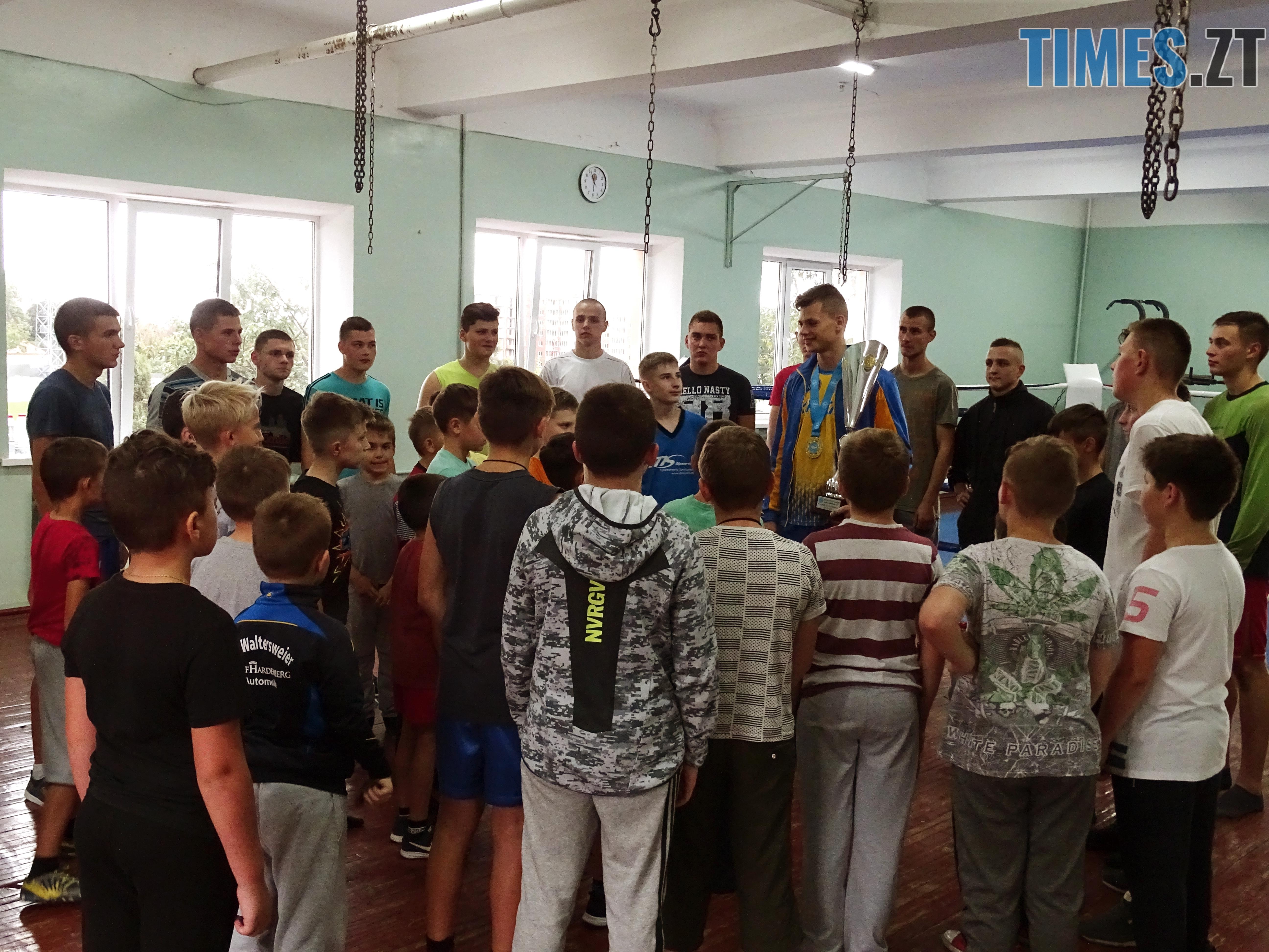 DSC02016 - Як одноклубники зустріли житомирського кікбоксера Артема Мельника, який став чемпіоном світу-2018 WAKO серед молоді (ФОТО)
