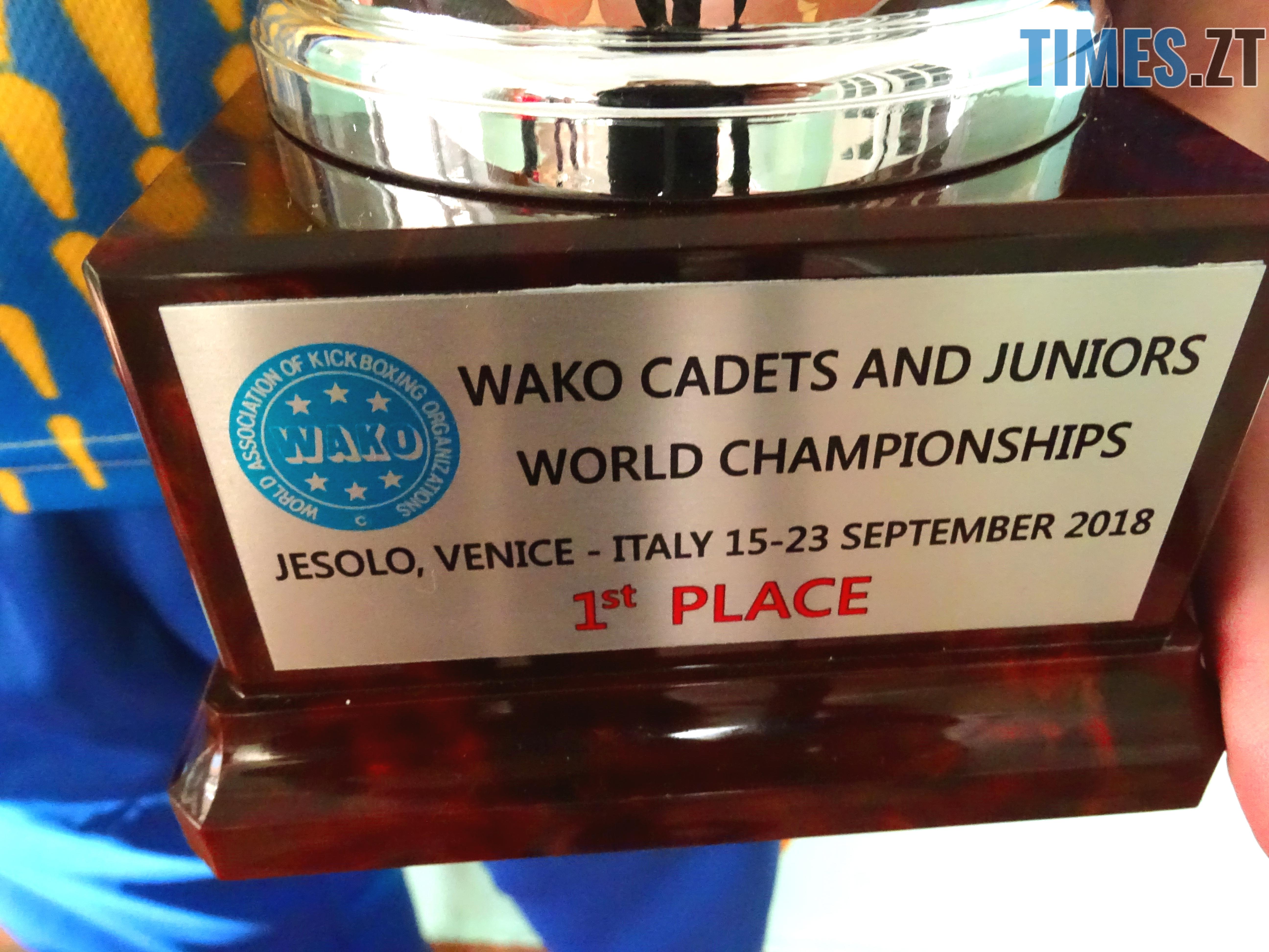 DSC02026 - Як одноклубники зустріли житомирського кікбоксера Артема Мельника, який став чемпіоном світу-2018 WAKO серед молоді (ФОТО)