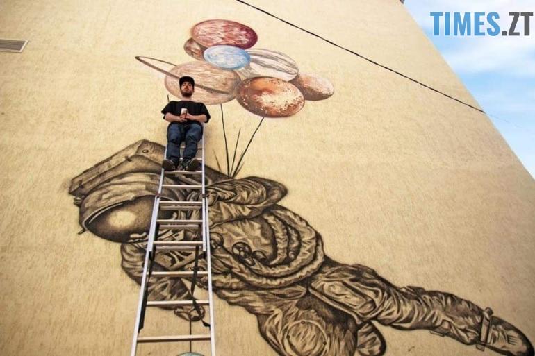 Krab 2 - За місяць у Житомирі з'явиться найбільший мурал міста (ФОТО, ВІДЕО)