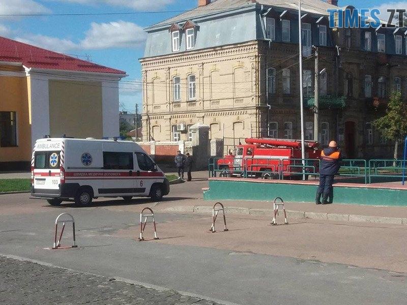 ucheniya 1 - У Житомирській області «замінували» один з вокзалів та провели евакуацію в школі (ФОТО)