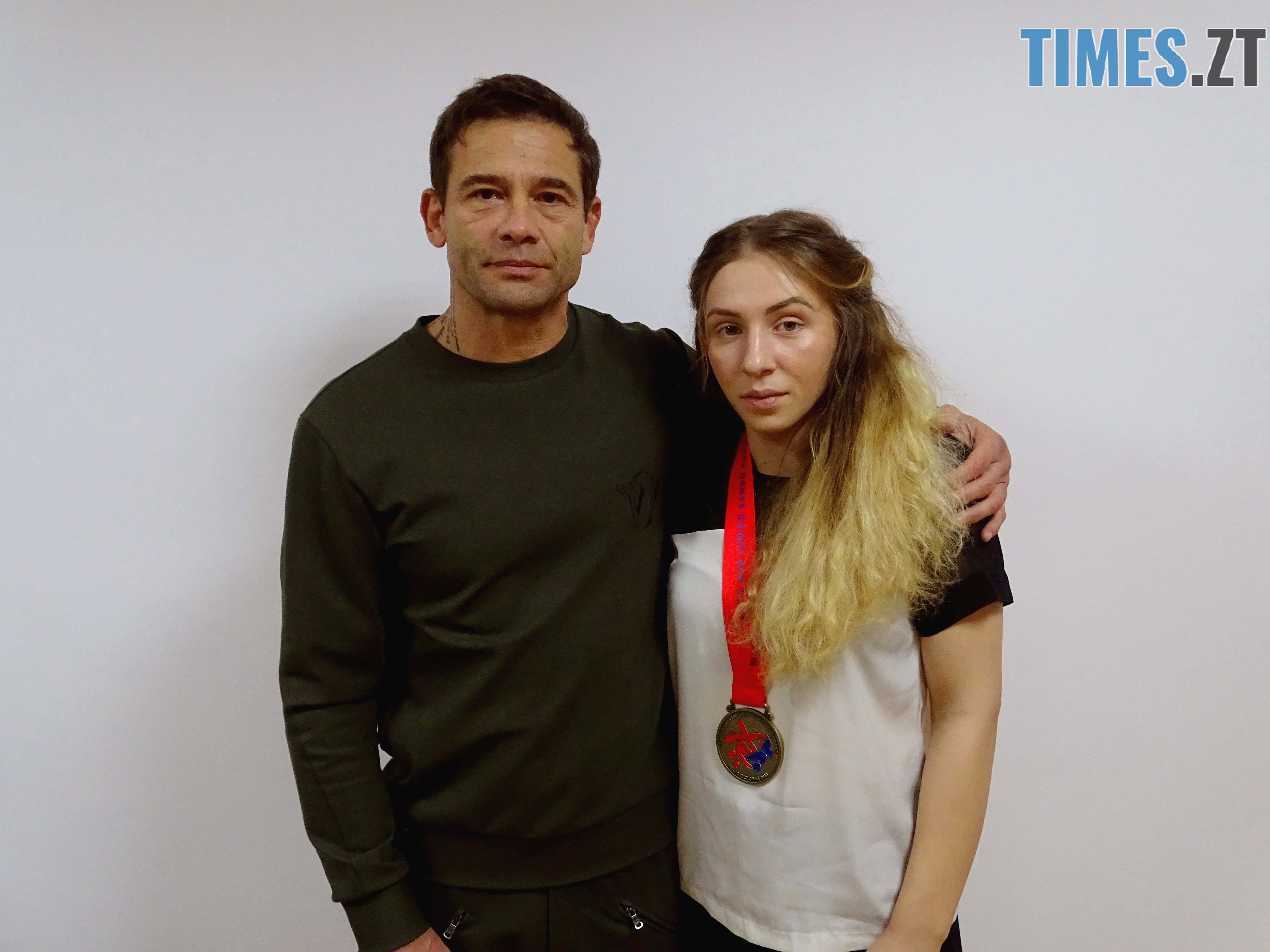 Голуб із вихованкою Катериною Хомяк - Житомирські самбістки стали призерками на Чемпіонаті світу–2018 серед молоді та юніорів