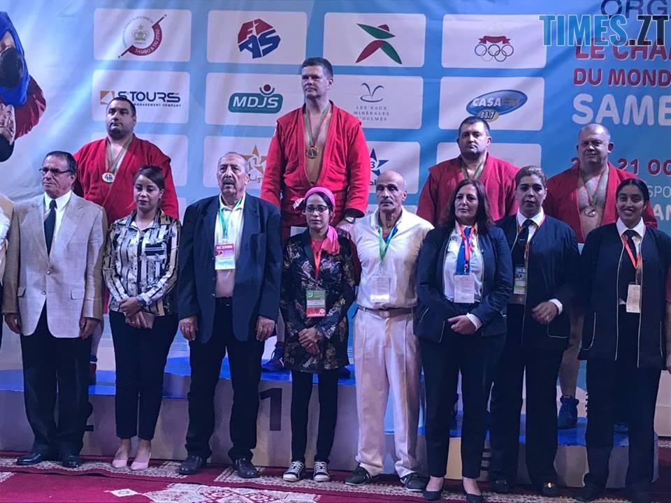 Демецький під час нагородження - Валерій Демецький став чемпіоном світу з боротьби самбо серед майстрів