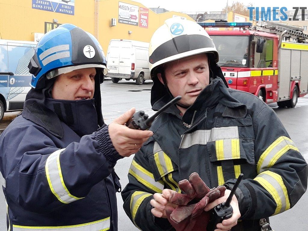 20181026 102449 1024x768 - Евакуація та 7 пожежних автомобілів: у Житомирі «гасили пожежу» у супермаркеті будівельних матеріалів