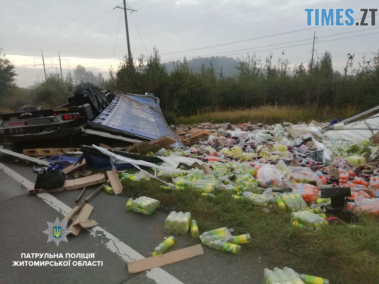 42912133 2700615873297475 8209607305134604288 o - У Житомирському район легковик в'іхав у вантажівку, яка опинилась у кюветі (ФОТО)