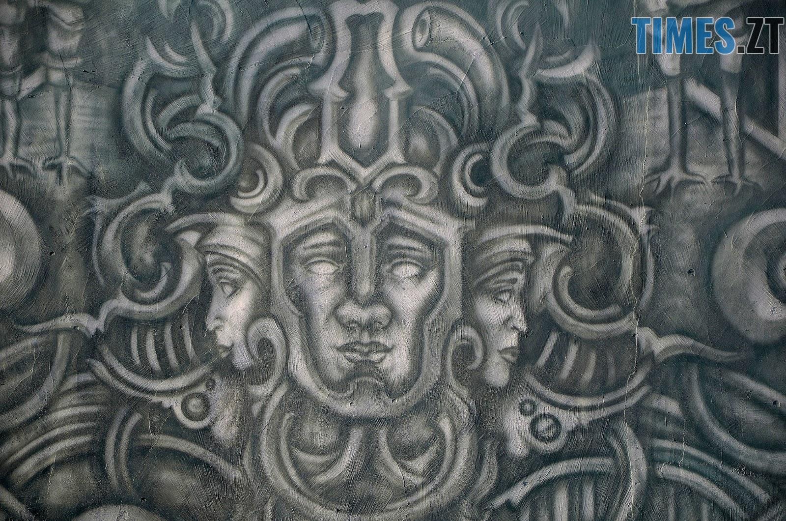 Krab 5 - Новий мурал «Трисвіт» як наймасштабніший витвір вуличного мистецтва у Житомирі