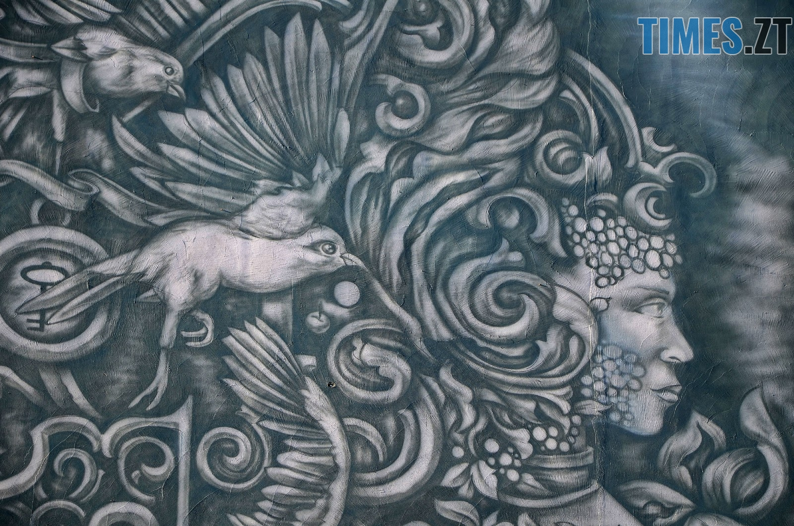 Krab 7 - Новий мурал «Трисвіт» як наймасштабніший витвір вуличного мистецтва у Житомирі