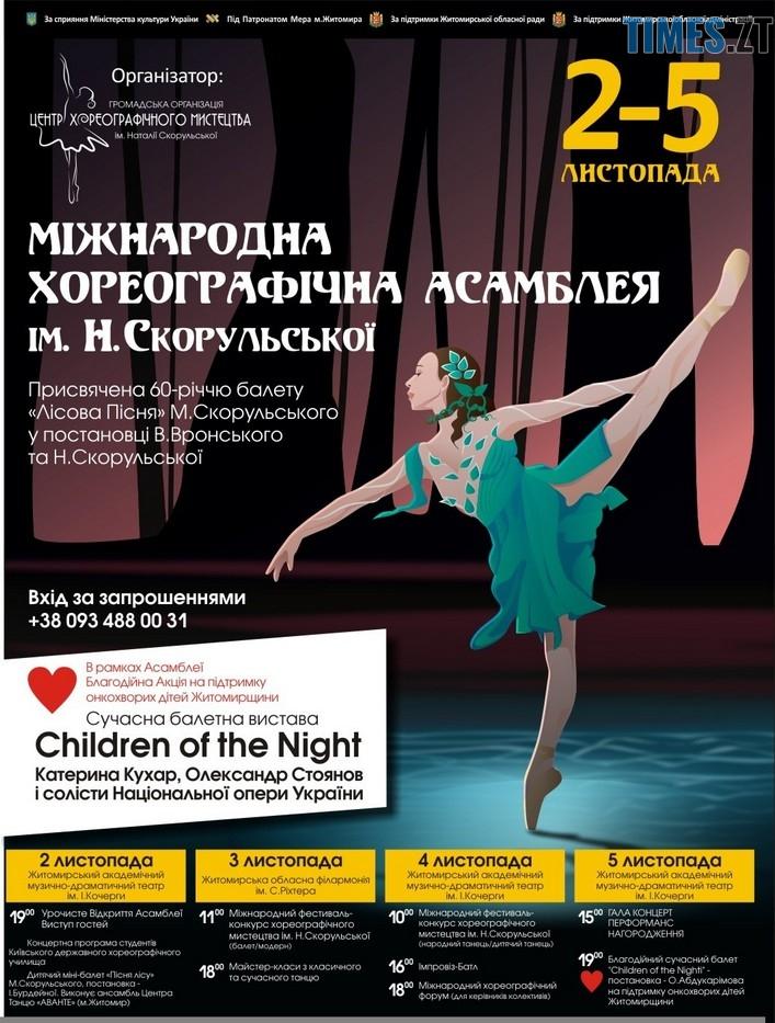 asambli - Мистецтво як благодійність: кошти за квитки на балетну виставу «Діти Ночі» перерахують на лікування онкохворих дітей