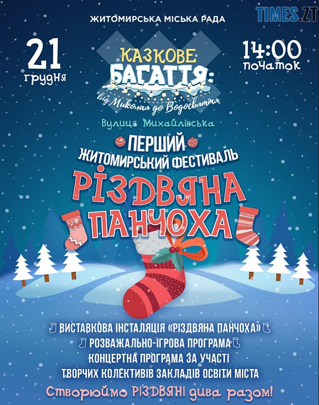 img1545304601 - У Житомирі вперше проведуть фестиваль «Різдвяна панчоха»: як це буде