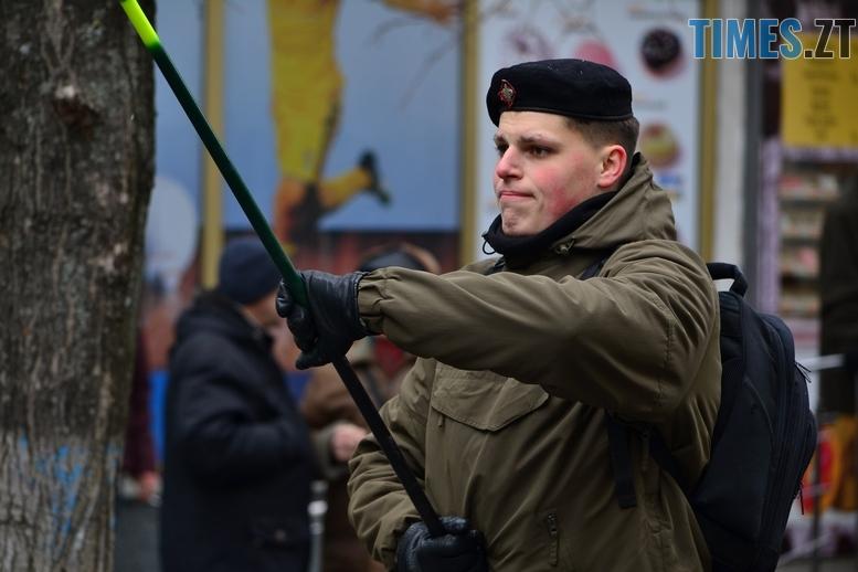 DSC 0214 Копировать - З величезним прапором та грандіозним ланцюгом відзначили День соборності в Житомирі