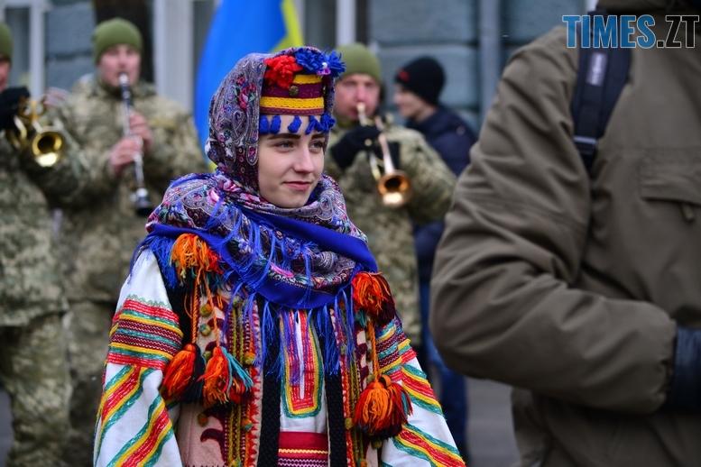 DSC 0278 Копировать - З величезним прапором та грандіозним ланцюгом відзначили День соборності в Житомирі