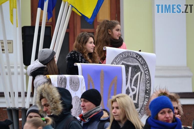 DSC 0415 Копировать - З величезним прапором та грандіозним ланцюгом відзначили День соборності в Житомирі