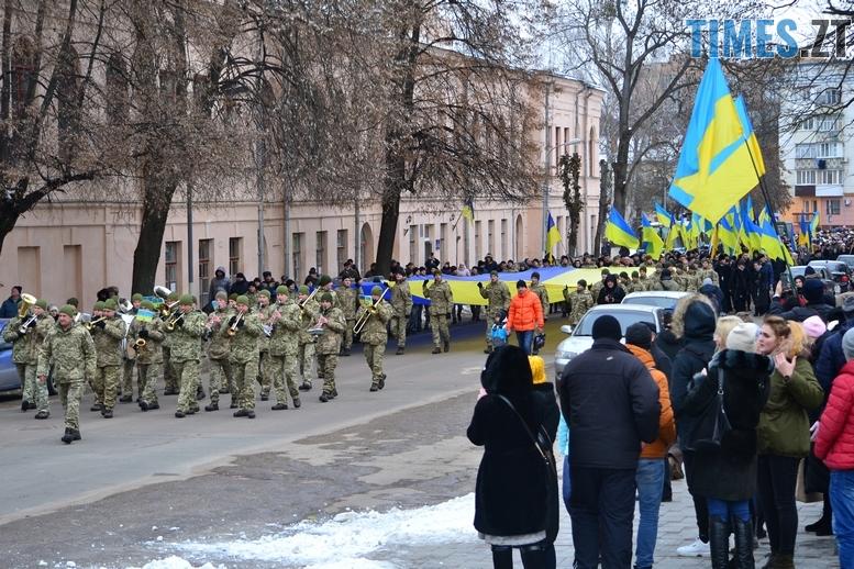 DSC 0418 Копировать - З величезним прапором та грандіозним ланцюгом відзначили День соборності в Житомирі