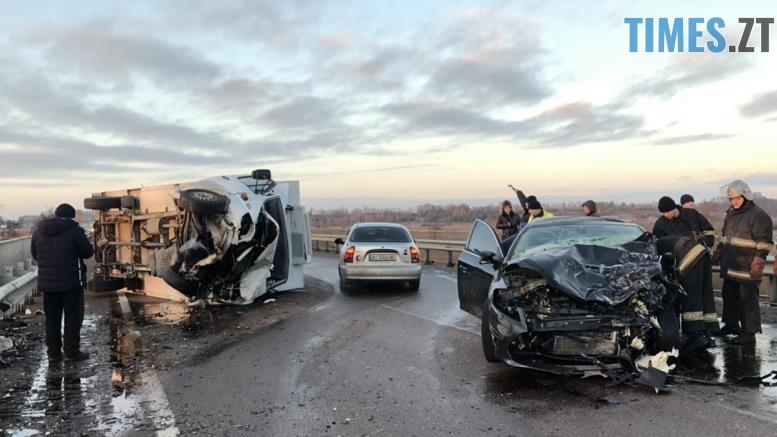 dtp Malyn1 - В аварії поблизу Малина отримали травми двоє дорослих і троє дітей