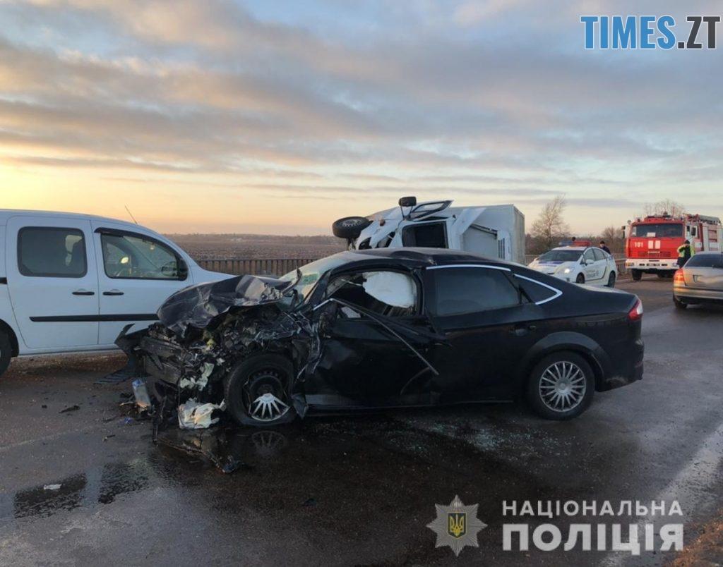 dtp Malyn3 1024x804 - В аварії поблизу Малина отримали травми двоє дорослих і троє дітей