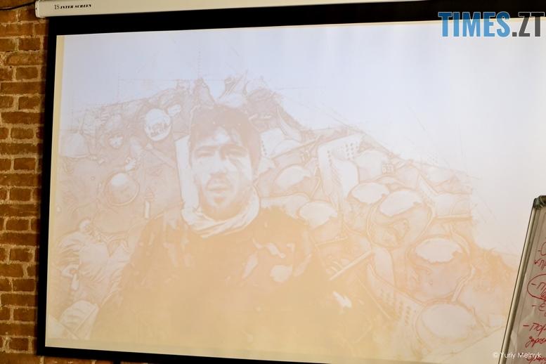 DSC 0404 Kopyrovat  - «Бог. Майдан. Війна» — майданівець Павло Кучер презентував в Житомирі свою поетичну збірку (ФОТО)