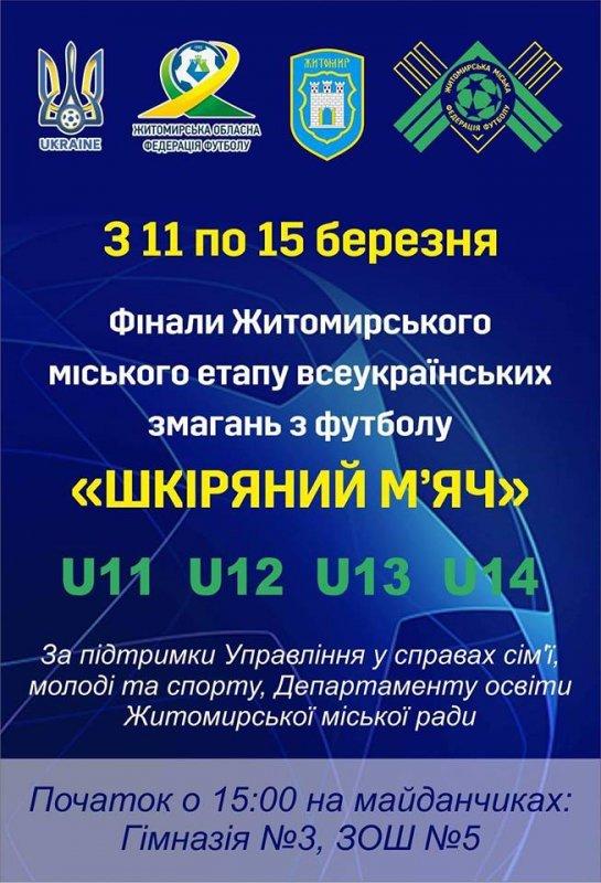 """img1552297034 - У Житомирі пройде фінал міського етапу змагань """"Шкіряний м'яч 2019"""""""