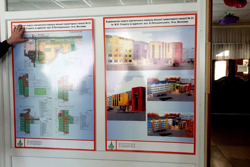 23443 - Мер Житомира презентував ескізи нового корпусу гімназії №23