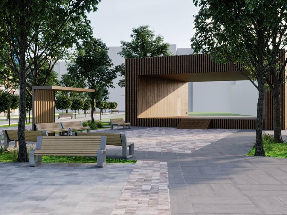 56624554 2395499760502012 3512400950176251904 n - Проект відновлення Польського бульвару продемонстрував житомирянам головний архітектор міста