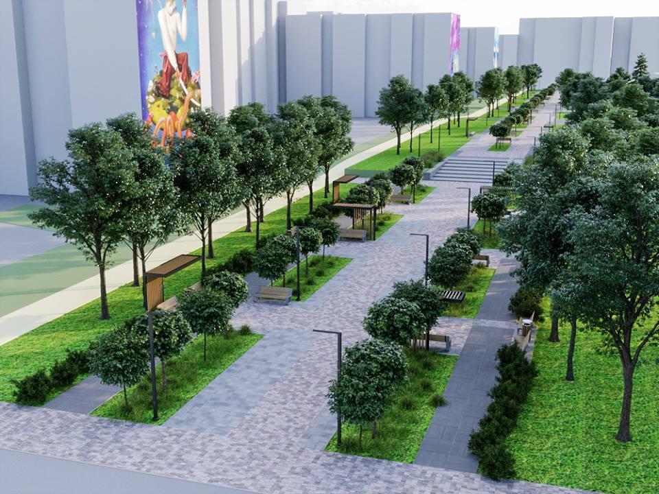 56907688 2395499497168705 4876001011652624384 n - Проект відновлення Польського бульвару продемонстрував житомирянам головний архітектор міста