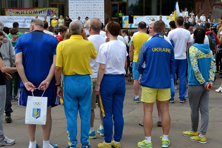 DSC 0217 1 - Олімпійський День у Житомирі: Бубка фотографувався феєрично – а біг так собі (ФОТО)