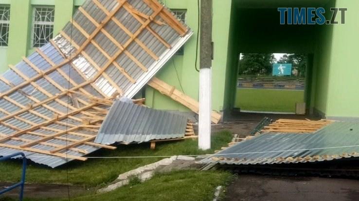 61919663 2167198783502546 1182986683700740096 n - В Житомирі ураган зривав дахи з будівель та валив дерева (ФОТО)