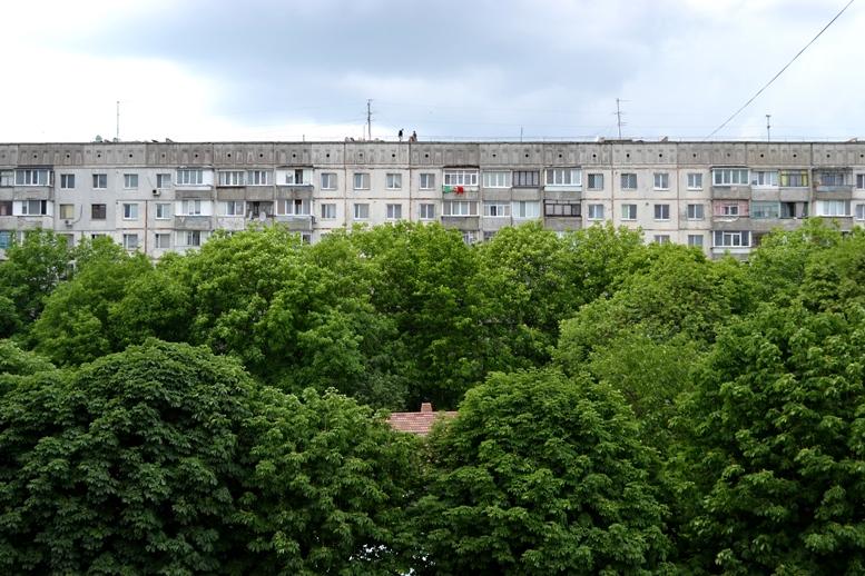 DSC 0007 - Страждають від дурні чи готують суїцид? На даху будинку на Польовій постійно стирчить дивна компанія (ФОТО)
